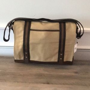 Fossil Parker Messenger Briefcase Laptop Bag NWT